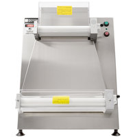 Doyon DL18P Countertop 18 inch Dough Roller Sheeter, 250 Pieces/Hour - Two Stage, Horizontal Rollers