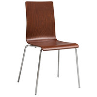 Safco 4298CY Bosk Cherry Stacking Chair   - 2/Case