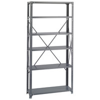 Safco 6268 Dark Gray 5 Shelf Commercial Steel Shelving Unit - 36 inch x 12 inch x 75 inch