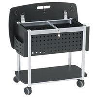 Safco 5370BL Scoot 29 3/4 inch x 18 3/4 inch x 27 inch Black / Silver File Cart