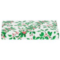 7 3/8 inch x 4 inch x 1 1/8 inch 2-Piece 1/2 lb. Holly Candy Box - 125/Case
