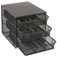 Safco 3275BL Black 3 Drawer Hospitality Organizer - 11 1/2 inch x 8 1/4 inch x 8 1/4 inch