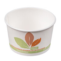 Bare by Solo V508PL-JF522 Leaf Print 8 oz. Eco-Forward Paper Soup / Hot Food Cup   - 1000/Case