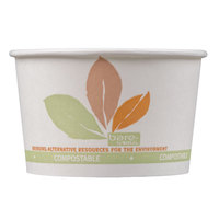 Dart Solo V508PL-JF522 Leaf Print 8 oz. Eco-Forward Paper Soup / Hot Food Cup - 1000/Case