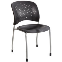Safco 6805BL Reve Series Black Stacking Guest Chair - 2/Case
