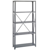 Safco 6265 Dark Gray 4 Shelf Commercial Steel Shelving Unit - 36 inch x 12 inch x 75 inch