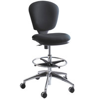 Safco 3442BL Metro Black Acrylic Swivel Chair with Adjustable Height