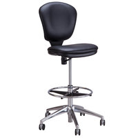 Safco 3442BV Metro Black Vinyl Swivel Chair with Extended Height