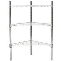 Regency 18 inch NSF Chrome Triangle Shelf Kit with 34 inch Posts