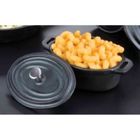 American Metalcraft CIPOV63 5 inch x 3 1/2 inch Oval Cast Iron Individual Serving Casserole Dish