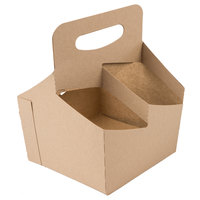 Southern Champion 2797 4 Cup Kraft Pop-Up Drink Carrier - 50/Pack