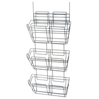 Safco 4151CH Panelmate Charcoal Gray 3-File Pocket Organizer - 15 1/2 inch x 8 1/2 inch x 29 1/2 inch