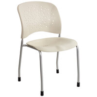 Safco 6805LT Reve Series Latte Stacking Guest Chair - 2/Case