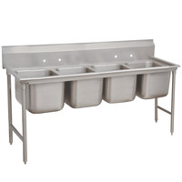 Advance Tabco 9-64-72 Super Saver Four Compartment Pot Sink - 89 inch
