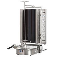 Inoksan PDE 503N Electric Doner Kebab Machine / Vertical Broiler with Robax Glass Shield - 20-200 lb. Capacity