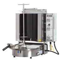 Inoksan PDG 300NR Natural Gas Doner Kebab Machine / Vertical Broiler with Robax Glass Shield - 20-100 lb. Capacity