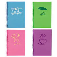 Roaring Spring Lifenotes 12531 5 inch x 7 inch Assorted Color College Rule Notebook - 4/Pack
