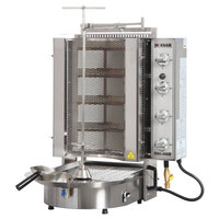 Inoksan PDG 400NM Natural Gas Doner Kebab Machine / Vertical Broiler with Mesh Shield - 20-130 lb. Capacity