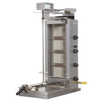 Inoksan PDG 104MN Liquid Propane Doner Kebab Machine / Vertical Broiler with Mesh Shield - 20-200 lb. Capacity