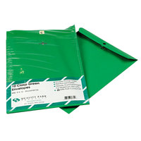 Quality Park 38735 #90 9 inch x 12 inch Green Clasp / Gummed Seal File Envelope - 10/Pack