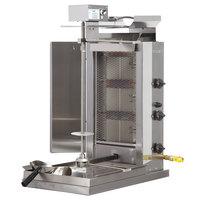 Inoksan PDG 103MN Liquid Propane Doner Kebab Machine / Vertical Broiler with Mesh Shield - 20-130 lb. Capacity