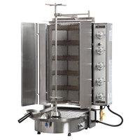 Inoksan PDG 500NM Natural Gas Doner Kebab Machine / Vertical Broiler with Mesh Shield - 20-200 lb. Capacity