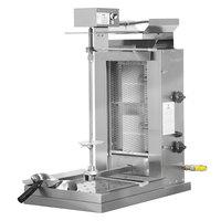 Inoksan PDG 102MN Natural Gas Doner Kebab Machine / Vertical Broiler with Mesh Shield - 20-100 lb. Capacity
