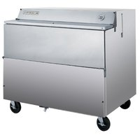 Beverage Air SMF49Y-1-S Stainless Steel Forced Air Milk Cooler 1 Sided - 49 inch