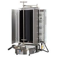 Inoksan PDG 500NR Natural Gas Doner Kebab Machine / Vertical Broiler with Robax Glass Shield - 20-200 lb. Capacity