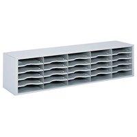Safco 7751GR E-Z Sort Light Gray 25-Section Steel File Organizer - 57 1/2 inch x 13 inch x 14 1/4 inch