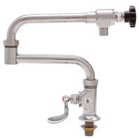 Fisher 21512 Deck Mounted Pot Filler with 20 inch Double-Jointed Control Spout, 29 GPM Flow, and Wrist Handle