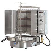 Inoksan PDG 300NM Natural Gas Doner Kebab Machine / Vertical Broiler with Mesh Shield - 20-100 lb. Capacity