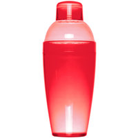 Fineline Quenchers 4103-RD 14 oz. Red Plastic Shaker - 24/Case
