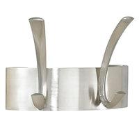 Safco 4203SL Brushed Nickel Metal Two-Peg Coat Hook / Wall Rack
