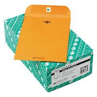 Quality Park 37763 #63 6 1/2 inch x 9 1/2 inch Brown Kraft Clasp / Gummed Seal File Envelope - 100/Box