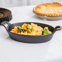 American Metalcraft CIPOV9567 36 oz. Pre-Seasoned Mini Cast Iron Oval Casserole Dish