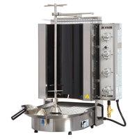 Inoksan PDG 400NR Natural Gas Doner Kebab Machine / Vertical Broiler with Robax Glass Shield - 20-130 lb. Capacity