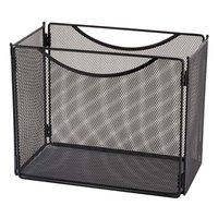 Safco 2169BL 12 1/2 inch x 7 inch x 10 inch Black Mesh Steel File Storage Box