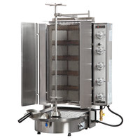 Inoksan PDG 500NM Liquid Propane Doner Kebab Machine / Vertical Broiler with Mesh Shield - 20-200 lb. Capacity