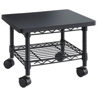 Safco 5206BL 2-Shelf Black Under Desk Printer Stand - 19 inch x 16 inch x 13 1/2 inch