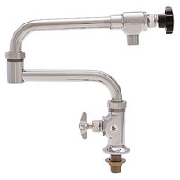 Fisher 5030 Deck Mounted Pot Filler with 20 inch Double-Jointed Control Spout, 29 GPM Flow, and Cross Handle