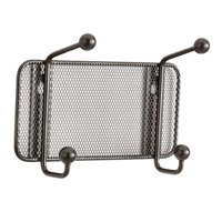 Safco 6401BL Onyx Steel Mesh Two-Peg Coat Hook / Wall Rack