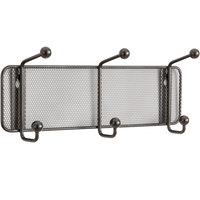 Safco 6402BL Onyx Steel Mesh Three-Peg Coat Hook / Wall Rack