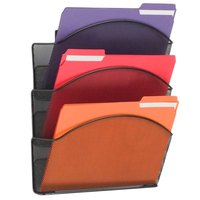 Safco 5652BL Onyx Steel 3 Pocket Wall File