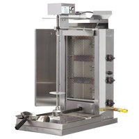 Inoksan PDG 103MN Natural Gas Doner Kebab Machine / Vertical Broiler with Mesh Shield - 20-130 lb. Capacity