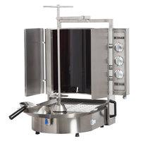 Inoksan PDE 303N Electric Doner Kebab Machine / Vertical Broiler with Robax Glass Shield - 20-100 lb. Capacity