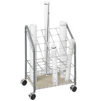 Safco 3091 20 Compartment Gray Wire Roll File Organizer