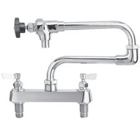 Fisher 2275 Deck Mounted Pot Filler with 8 inch Centers, 20 inch Double-Jointed Control Spout, 29 GPM Flow, and Lever Handles