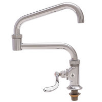 Fisher 21547 Deck Mounted Faucet with 20 inch Double-Jointed Swing Nozzle, 37 GPM Flow, and Wrist Handle