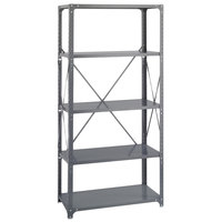 Safco 6266 Dark Gray 4 Shelf Commercial Steel Shelving Unit - 36 inch x 18 inch x 75 inch